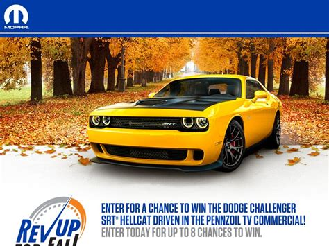 Fall Sweepstakes - the mopar rev up for fall sweepstakes