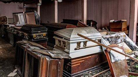 makes terrifying discovery inside abandoned funeral