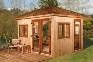 diy backyard office by cedarshed slashgear