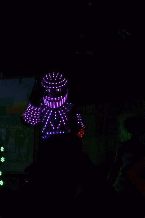 imagenes con movimiento neon robot luces gif find share on giphy
