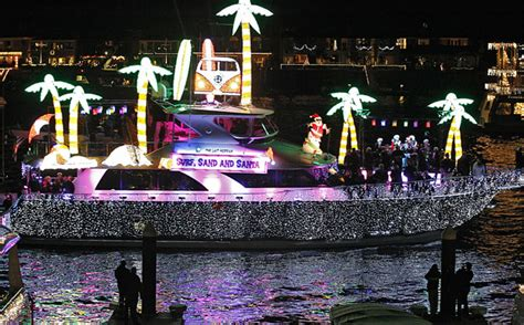 newport beach boat parade of lights 2012 newport beach christmas parade launches amid boycott l a