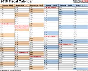 Malta Calendrier 2018 Fiscal Calendars 2018 As Free Printable Excel Templates