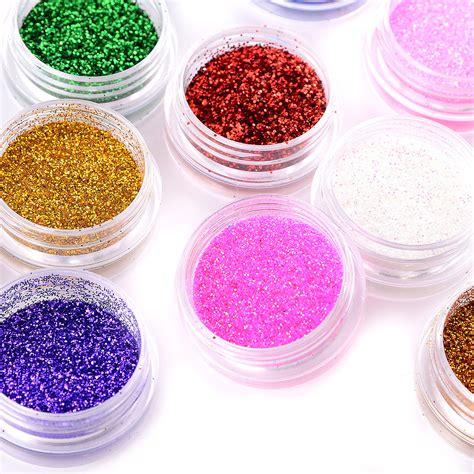 accessoire deco ongle 12 decoration ongle poudre poussiere glitter paillette