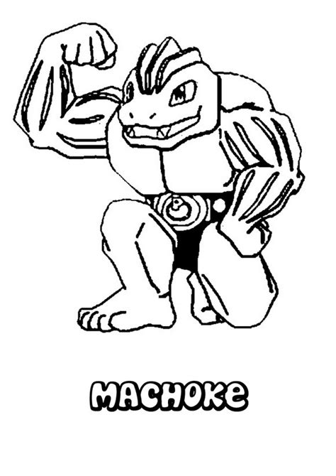 pokemon coloring pages hitmonchan dibujos para colorear pokemon machoke es hellokids com