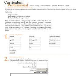 Plantilla De Curriculum Vitae Para Completar E Imprimir Comunicaci 243 N Organizacional Pearltrees