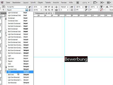 Bewerbung Schriftart Bewerbung Gestalten Bewerbung Design Der Minimalistische Stil Indesign Tutorials De