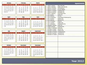 office 2007 calendar template printing a yearly calendar with holidays and birthdays