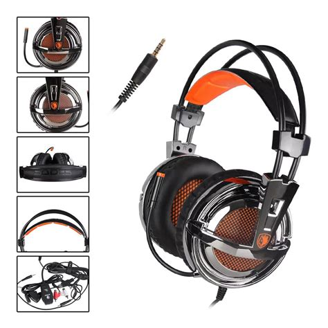 Headset Gaming Sades A9 Orange 1 sades sa 928 gaming headphones with mic black and orange
