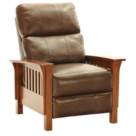 mission style leather recliners monterey ii leather mission recliner my style