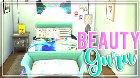 sims  beauty guru bedroom room build youtube