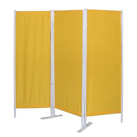 paravent gestell paravent klassik 3 teilig stahl polyester wei 223 gelb