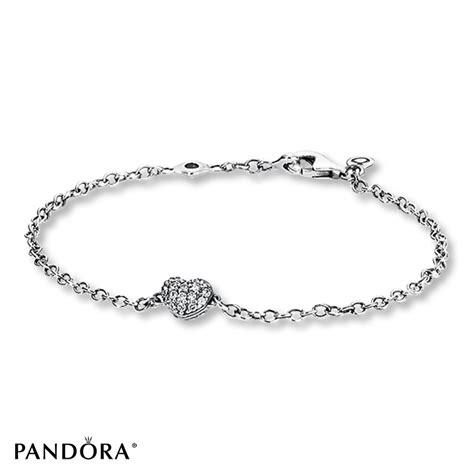 jared pandora 7 1 inch bracelet cz pave sterling