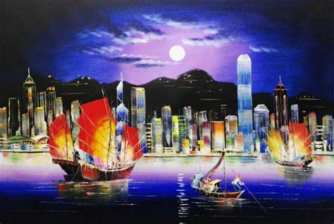 paint nite garden city sale painted modern knife canvas painting