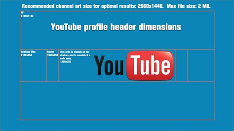 youtube page layout size size of youtube channel banner best business template