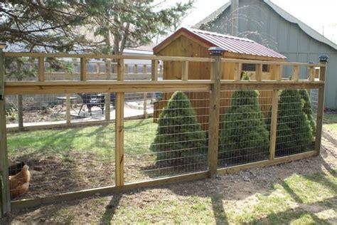 fenced run chicken run