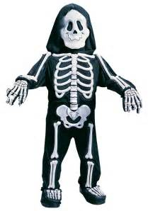 Skeleton Costumes Child White Skeleton Costume