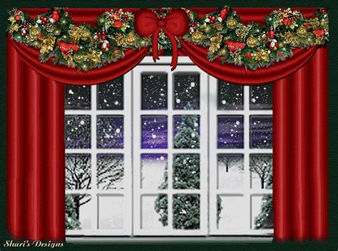 christmas window graphic animated gif graphics christmas