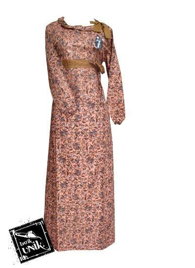 Gamis Anak Rainan Motif Flower Warna Coklat Size S 4 baju batik gamis motif batik etnik kombinasi gamis batik murah batikunik