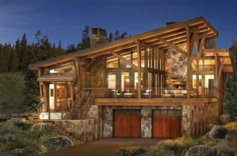 modern log and timber frame homes and plans