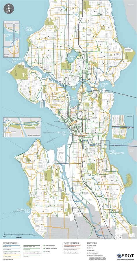 seattle neighborhood map pdf seattle s 2015 bike map gets a makeover how it could be