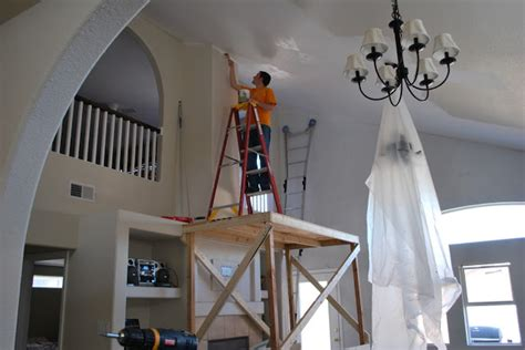 How Much To Vault A Ceiling by Two Crafty How We Are Painting Our Vaulted Ceiling