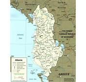 Albania Mappa Cartina Geografica Foto Stra