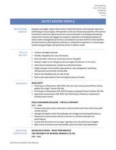 Artist Resume Sample sample artist resume education art resume inspiration full size the