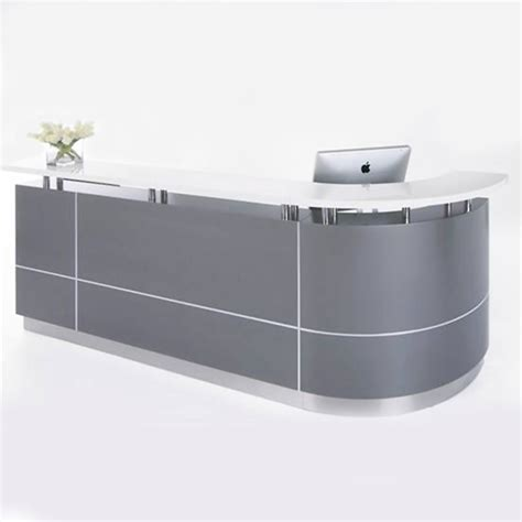 Curved Reception Desk Curved Reception Desk Eclypse Curved Reception Desk 4 Classic Curved Reception Desk 3