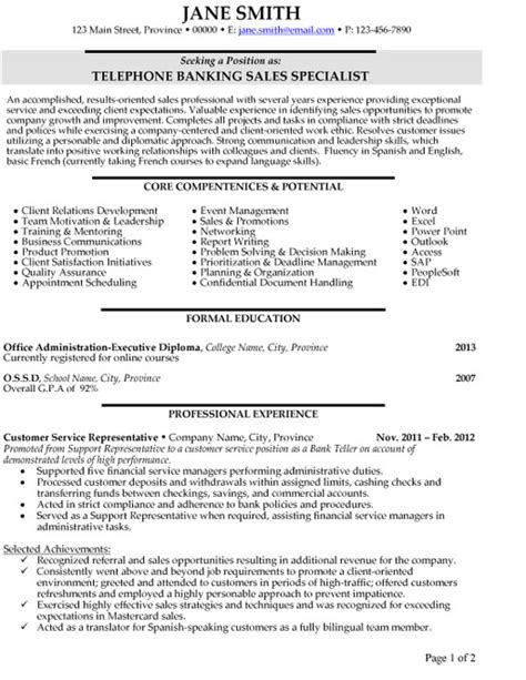top banking resume templates samples