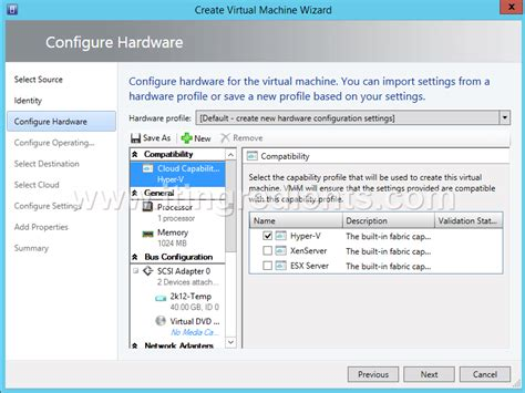 hyper v template how to create machine using vm template in scvmm