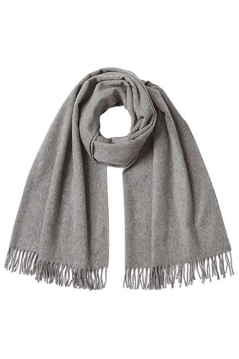 a p c wool scarf grey in gray lyst