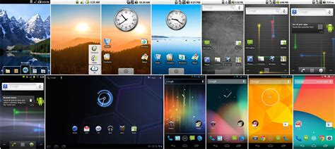 google themes over the years the history of android ars technica