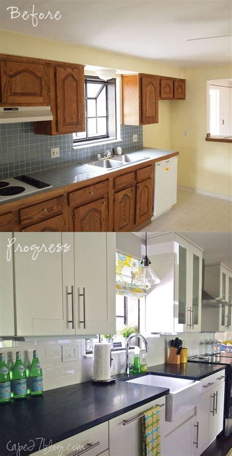 kitchen remodel cabinets pretty before and after kitchen makeovers noted list