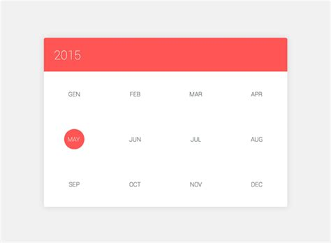 calendar responsive design 5 material design animations with css3 and jquery