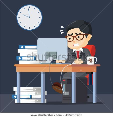 hard work man tired man business stock vector 660628576 business man working hard stock vector 455706985