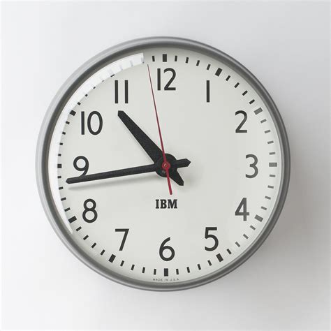 1960s ibm standard issue clock schoolhouse electric