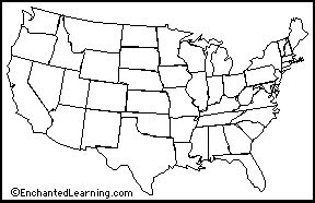 u s map quiz type the states