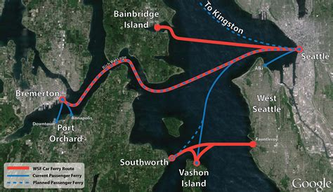 seattle map ferry kitsap transit plans to revive high speed ferries the