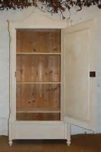 Cornice Shelves Antique Louis Philippe Storage Linen Cupboard 104661