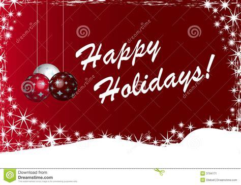 Happy Holidays Background Illu Stock Image   Image: 3794171