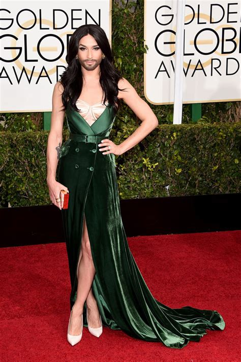 Golden Globes 2008 Carpet Fever by Pic Conchita Wurst The Bearded At The 2015 Golden
