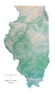 illinois physical map illinois wall map a spectacular physical map of illinois