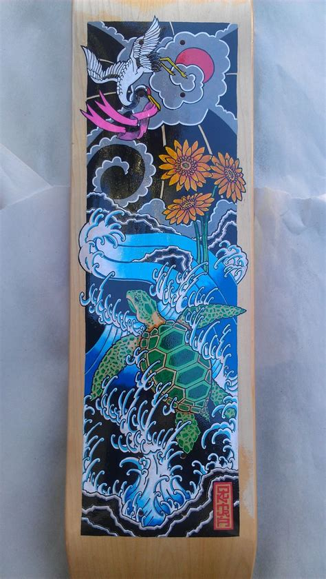 tattoo paint pen sea turtle crane bca skateboard japanese tattoo posca