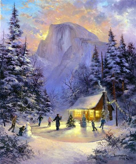 Christmas Wallpaper For Yosemite   christmas afternoon in yosemite national park painting