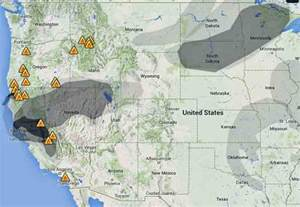 smoke map california california map
