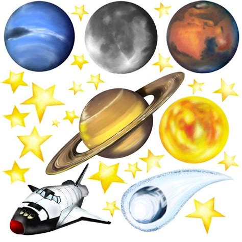 space stickers for walls large wall decals of planets pics about space