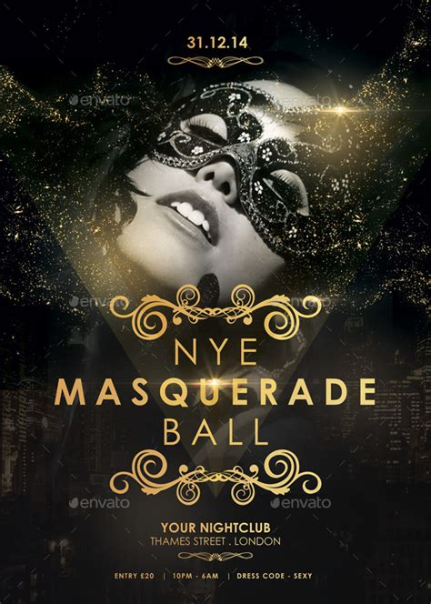 nye masquerade ball flyer by spacemandesign graphicriver
