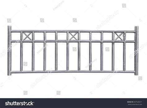 handrail design icon view stainless steel railing isolated on white with clipping