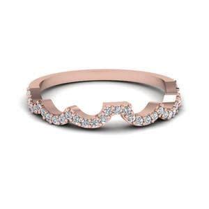 heart design linked diamond engagement ring in 14k white