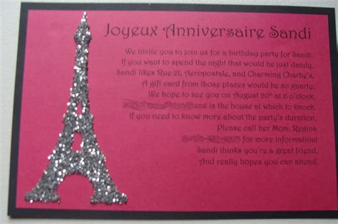 paris themed birthday invitations paris themed birthday invitation paris themed birthday